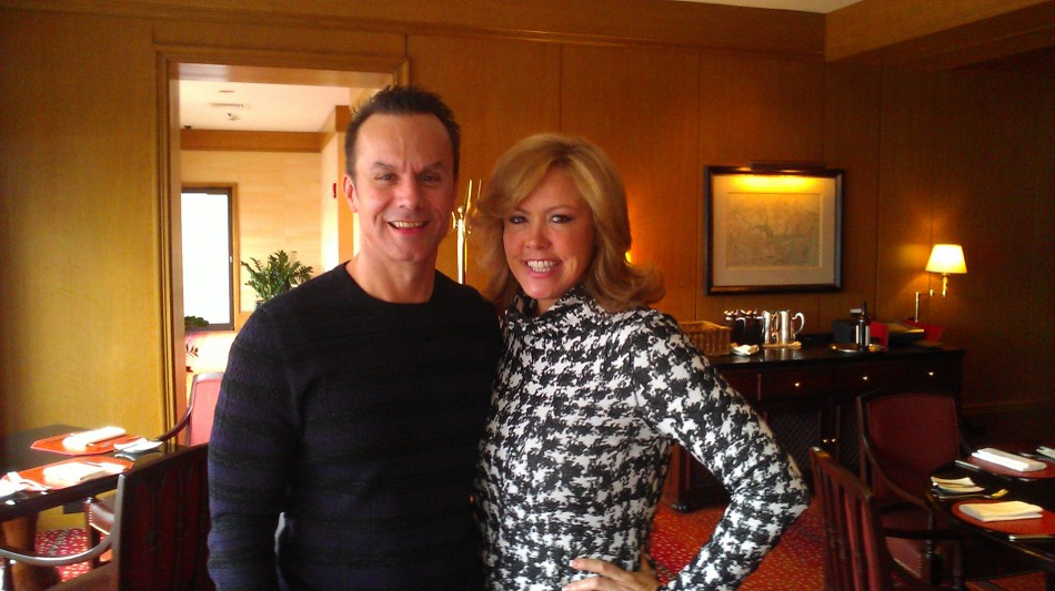 Mark Lund and Mary Murphy at the Bristol Lounge at The Four Seasons.