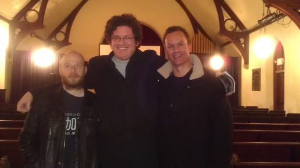 Jeremy Blaiklock (l), Jared Skolnick (c) and Mark Lund (r) at a screening of The Earth Rejects Him.
