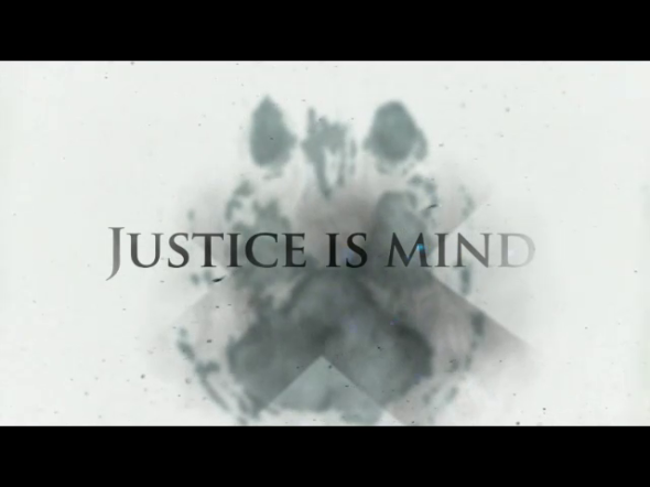 The opening credits of Justice Is Mind.