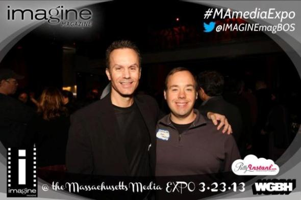 With actor and friend Matt Rouillard at the Massachusetts Media Expo.
