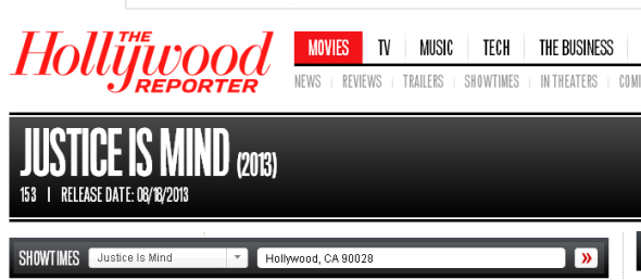 Our listing went up on The Hollywood Reporter this week.