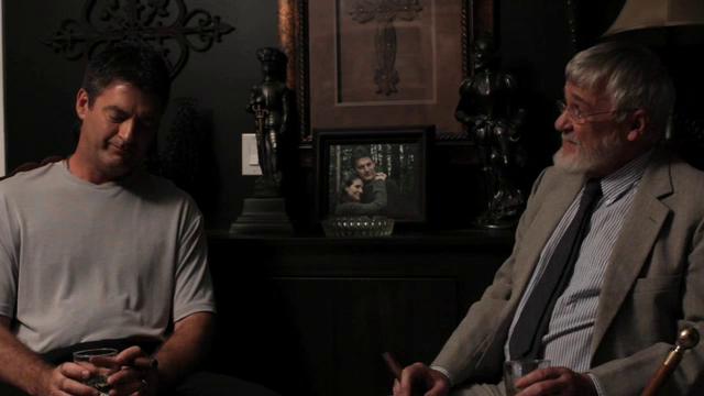 Henri Miller (Vernon Aldershoff) and his father Joseph Miller (Richard Sewell).