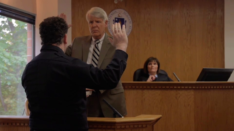 """""""Call your first witness."""" Trial begins."""