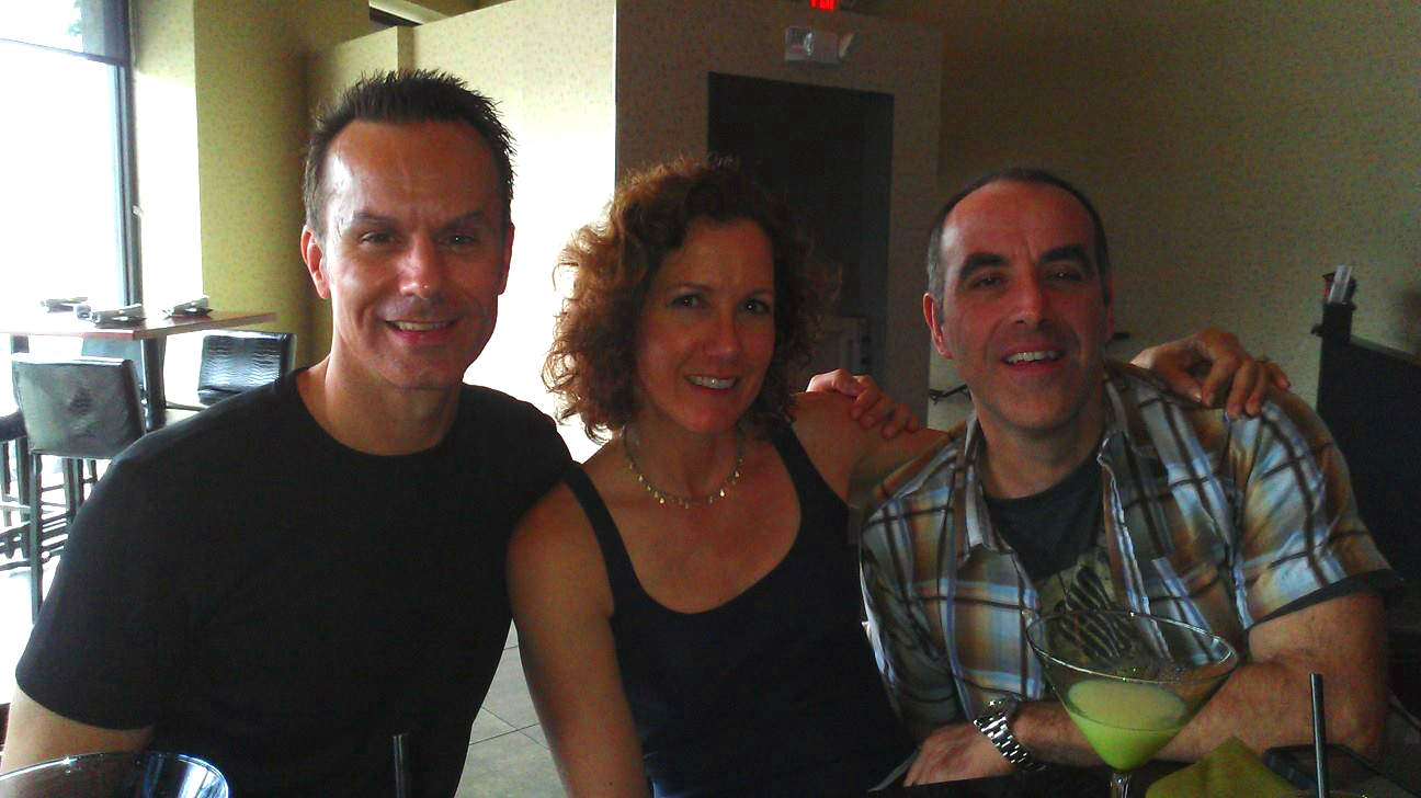 Director Mark Lund (l) with Justice executive producers Mary Wenninger and Stefan Knieling.