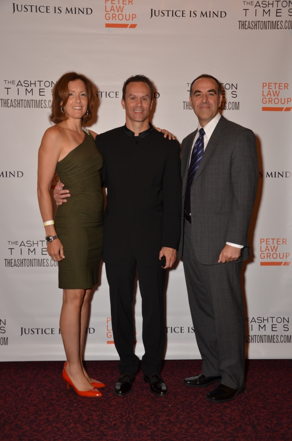 Justice Is Mind director Mark Lund (c) with executive producers Mary Wenninger and Stefan Knieling.