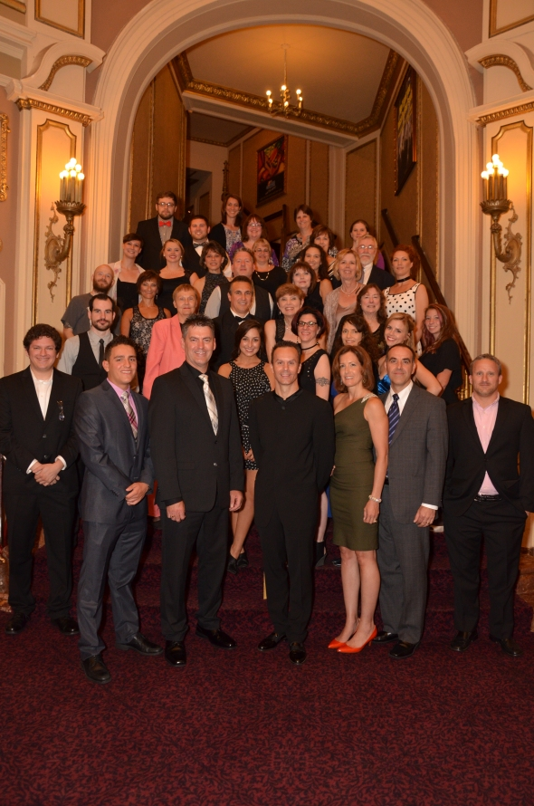 Justice Is Mind producers, cast and crew at the world premiere on August 18, 2013 - The Palace Theatre.