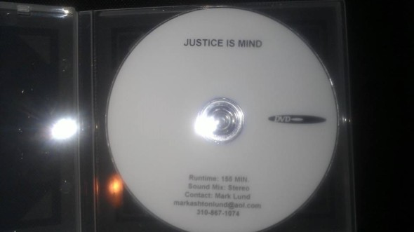 The exhibition DVDs of Justice Is Mind.