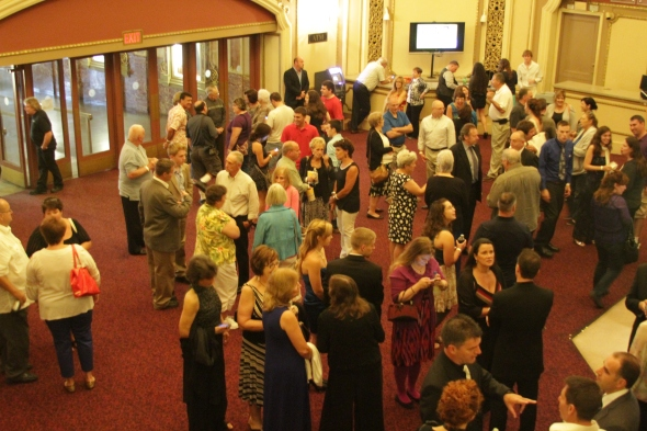 Audiences arriving for the world premiere of Justice Is Mind.