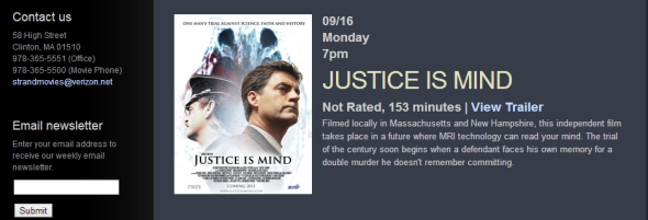 To learn the story, see Justice Is Mind on at The Strand Theatre.