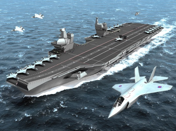 In my next screenplay, the Queen Elisabeth aircraft carrier is part of the story.