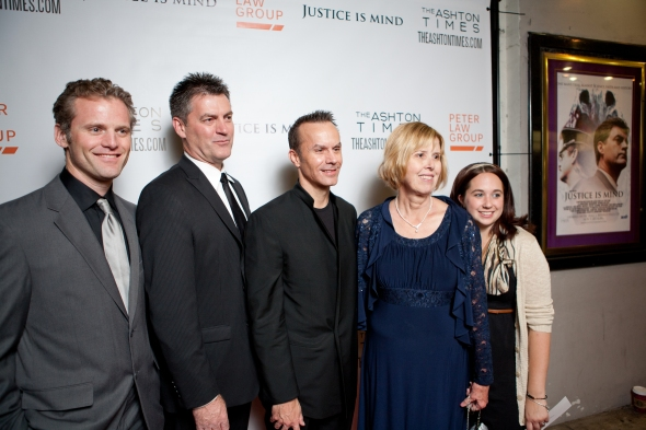 (L-r) Lee Simonds, Vernon Aldershoff, Mark Lund, MIchele Mortensen and Jessica Killam at the West Coast Premiere.