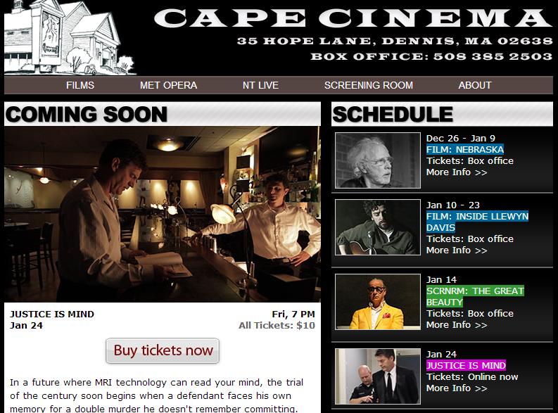 Cape Cinema   Schedule