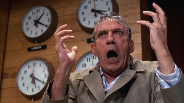 "The late actor Peter Finch as Howard Beale in Network. ""You have to get mad!"""