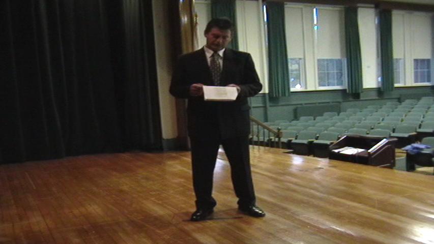Vernon Aldershoff auditioning for the role of Henri Miller.