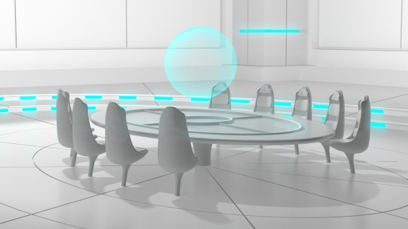 The Synedrion Council Chambers in First World. Concept art by Pixel Eight Design.