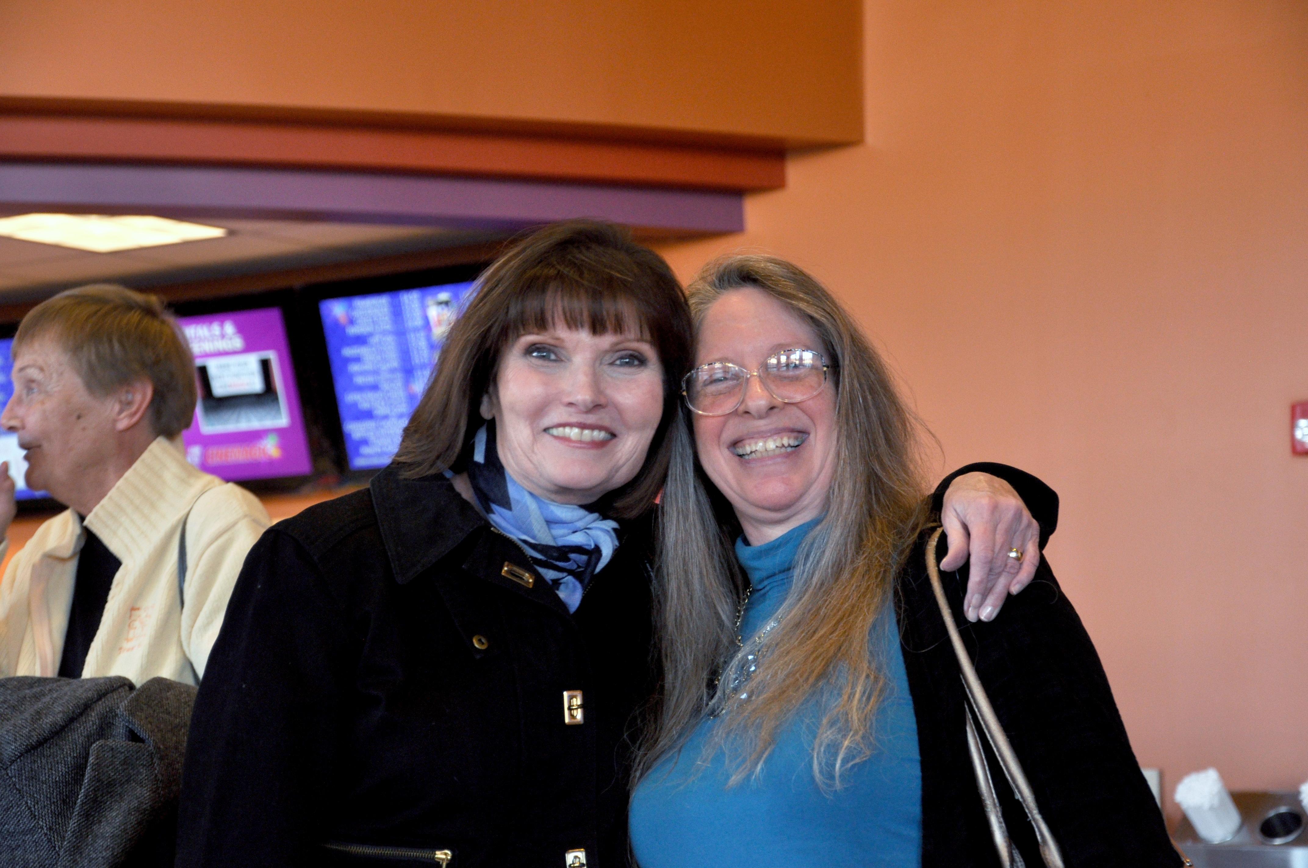 Mary Wexler (Judge Wagner) with filmmaker Pamela Glasner.