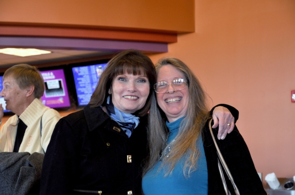 Mary Wexler (Judge Wagner) with filmmaker Pamela Glasner.