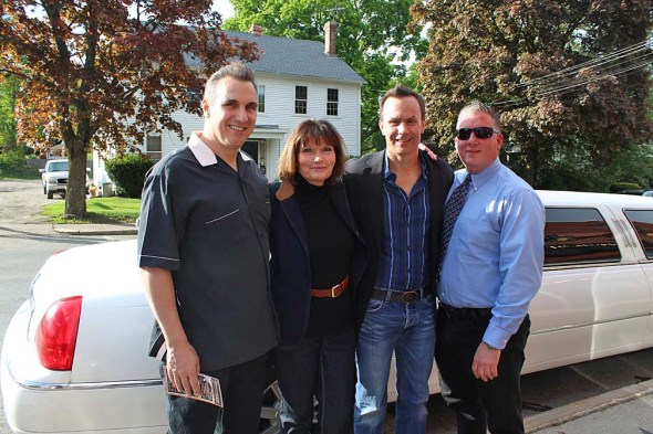 Paul Lussier, Mary Wexler, Mark Lund and Bob Leveilee at The Elm in Millbury.