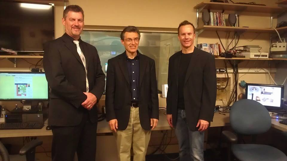 Vernon Aldershoff, Dr. Marcel Just and Mark Lund at CMU's Brain Imaging Center.