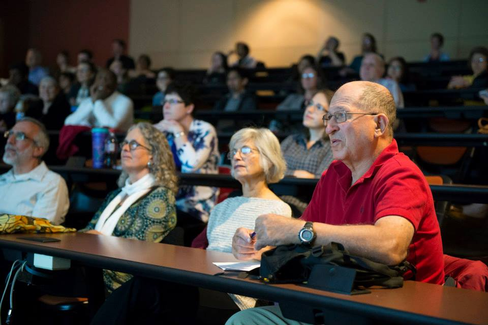 An enthusiastic audience at Carnegie Mellon University.