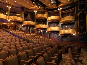The theatre onboard the Queen Elizabeth.
