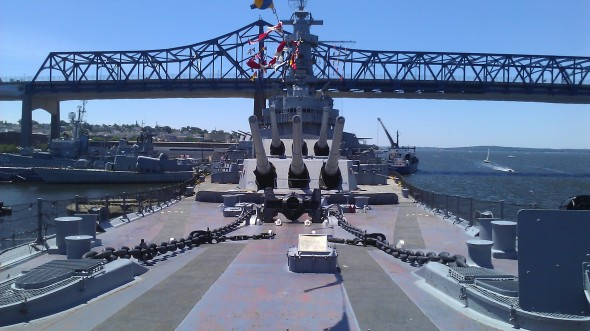 Last weekend I visited the USS Massachusetts.  In SOS United States the President speaks to the nation on this deck.