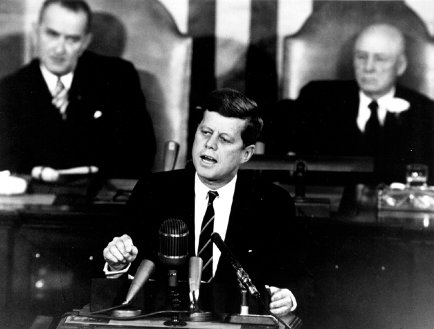 First World starts when President Kennedy addresses a  joint session of the United States Congress on May 25, 1961.