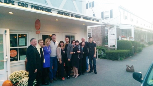 With actors from Justice Is Mind at the Chatham Orpheum - the Cape Cod Premiere