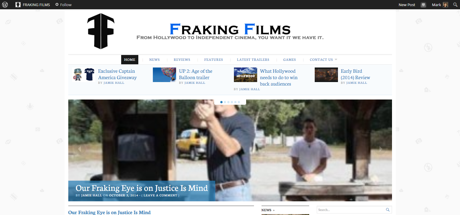 Check out Fraking Films piece on Justice Is Mind.