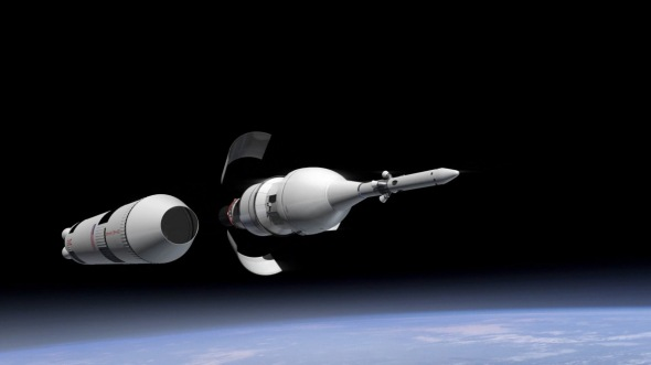 In First World we see Orion ready to launch. This week NASA is set to launch the first test flight of the Orion capsule.