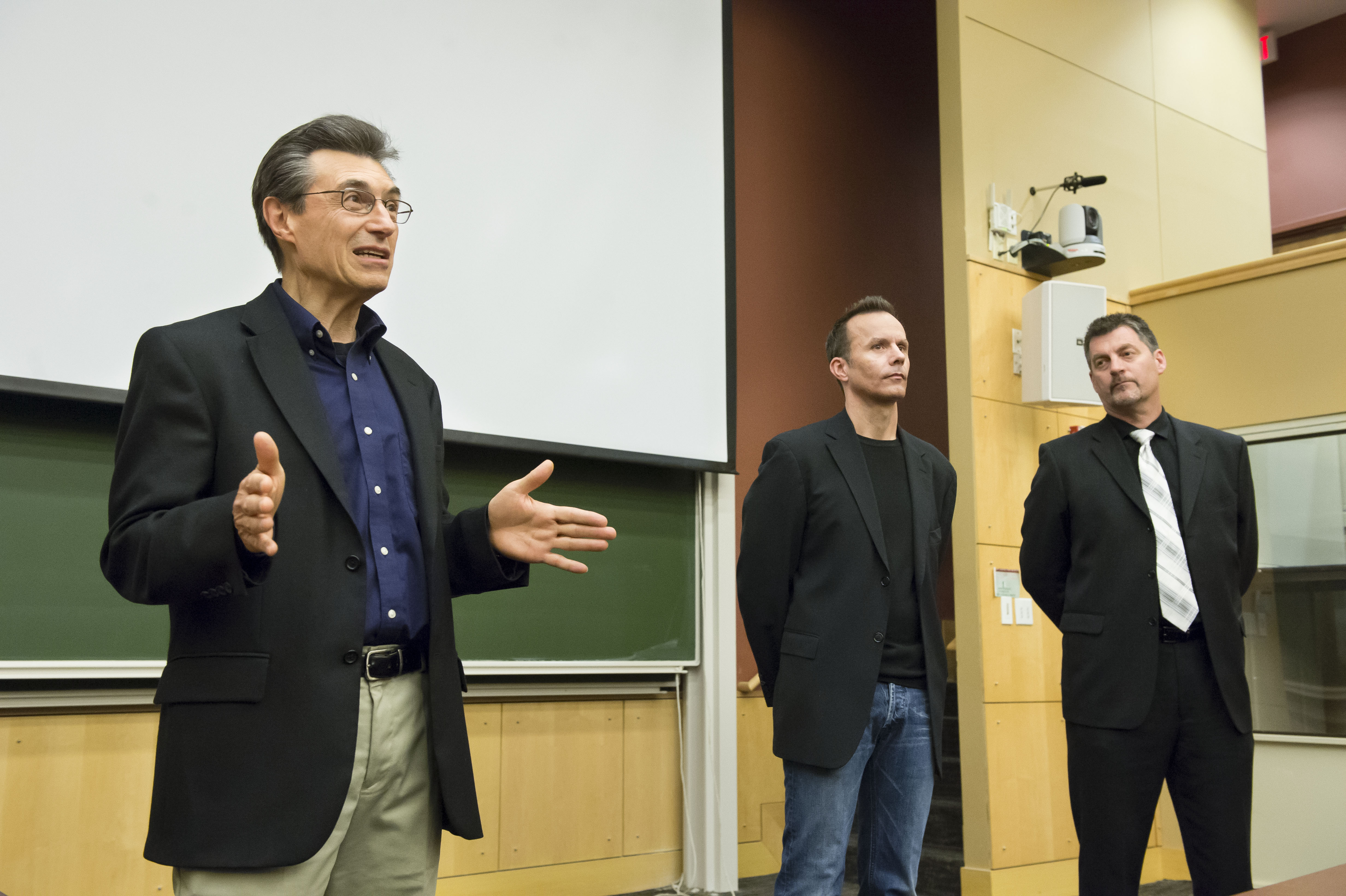 With Dr. Marcel Just and Vernon Aldershoff at Carnegie Mellon University