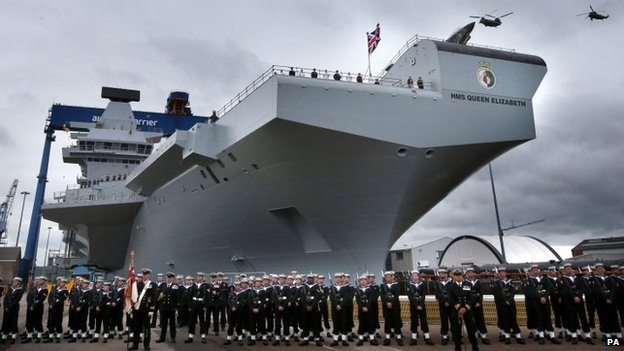 In a new article this week, it looks like the Royal Navy's HMS Queen Elizabeth may belong to the US Marines rather than Britain. In SOS United States, President and Prime Minister plan to merge their respective militaries.