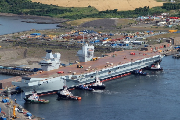 The HMS Queen Elizabeth, that's seen in SOS United States, will start sea trials next year.