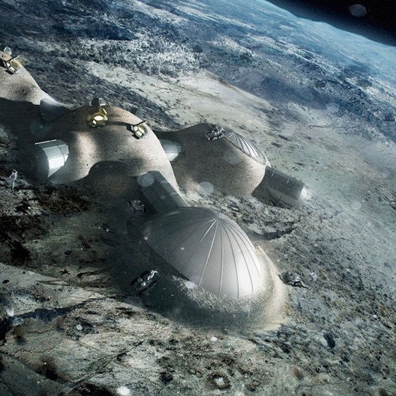 In FIRST WORLD there's an installation on the Moon. The European Space Agency is proposing to build a Moon base.