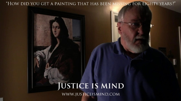 The concept trailer links Justice Is Mind to In Mind We Trust with stolen NAZI artwork.