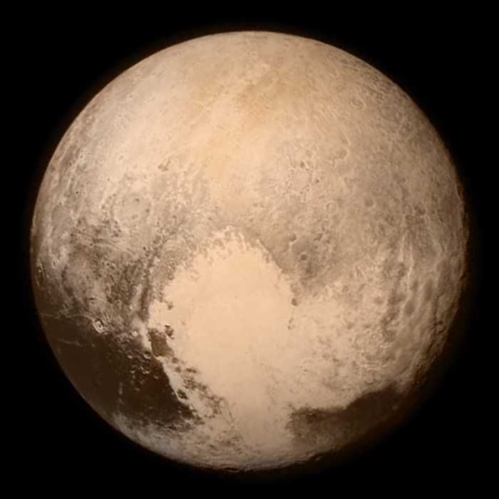 Pluto taken by the New Horizons spacecraft on 13 July 2015