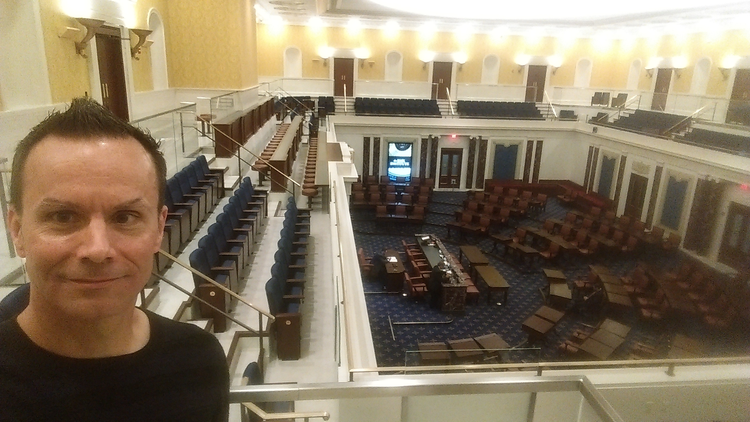 Visiting the replica of the Senate at the Edward M. Kennedy Institute for the US Senate last weekend.