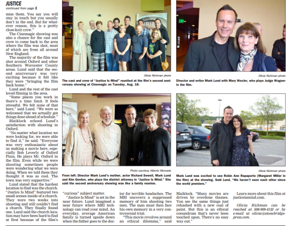 In the August 28, 2015 edition of the Sturbridge Villager.