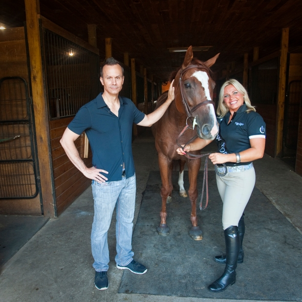 With Jamie Blash at Four Winds Farm in Worcester Magazine.