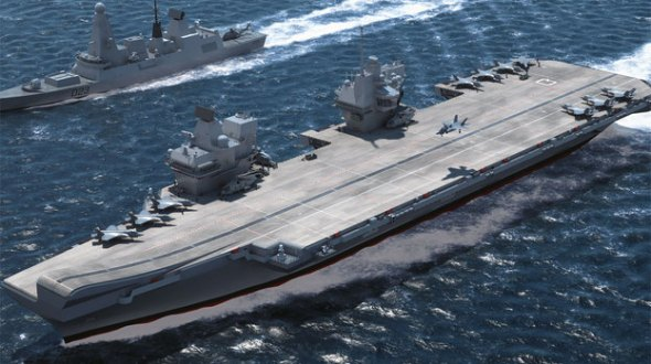 In SOS United States the HMS Queen Elizabeth aircraft carrier is targeted by a foreign power.