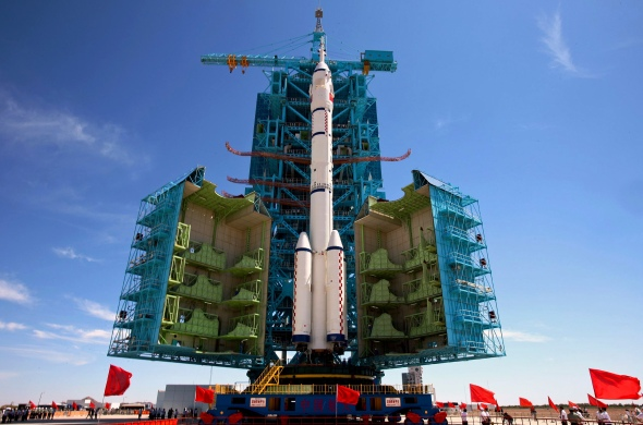 China's Long March-2F rocket carrying the Shenzhou-9 spacecraft.