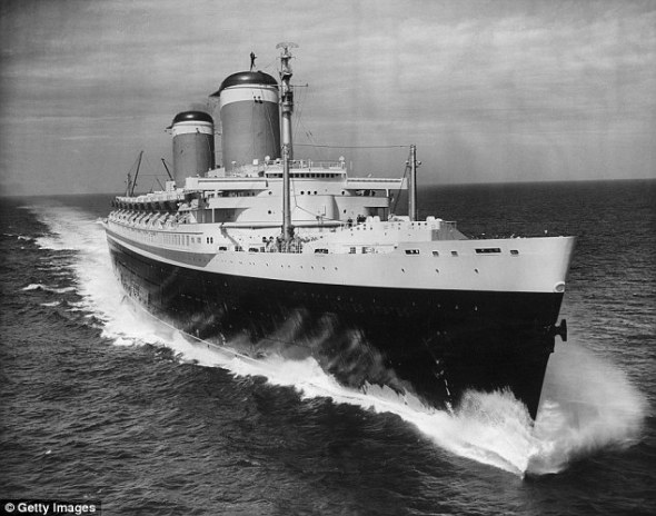 In her prime the SS United States ocean liner.