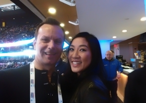 It was so great seeing Michelle Kwan again.
