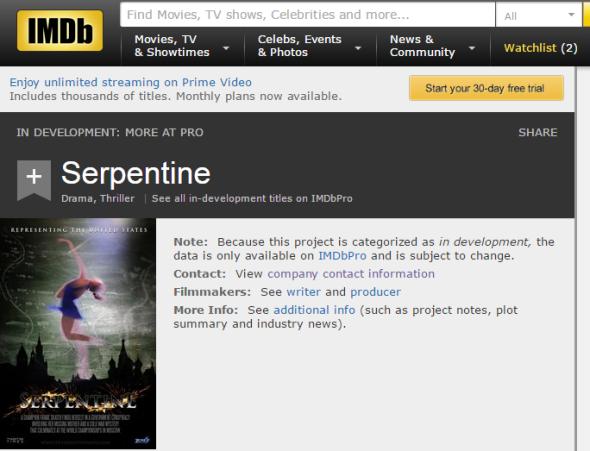 Serpentine   IMDb