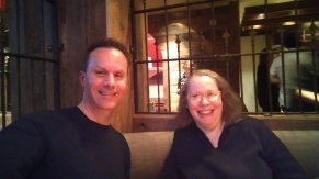 With Lois Elfman at Dos Caminos in New York City.