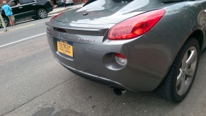 "My second Pontiac Solstice with ""New York State"" tags."