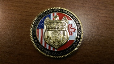 I was given an NCIS Challenge Coin by a retired NCIS agent for playing an NCIS agent at the Naval Justice School.